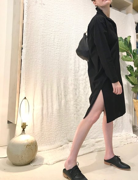 Stateside Poplin Shirtdress - Black