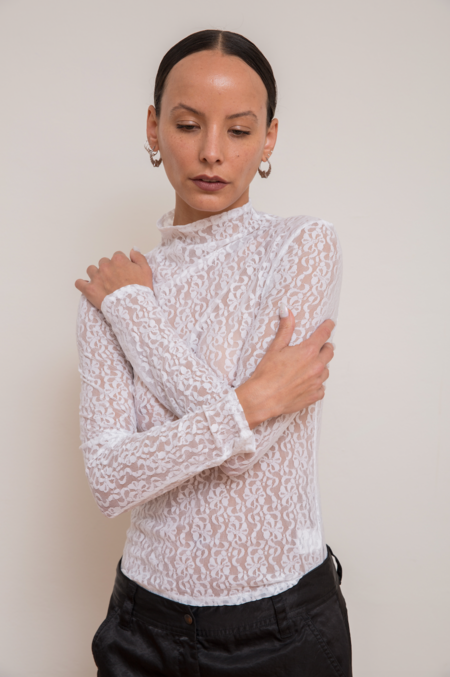 Collina Strada Cardio Nova Top - White Lace