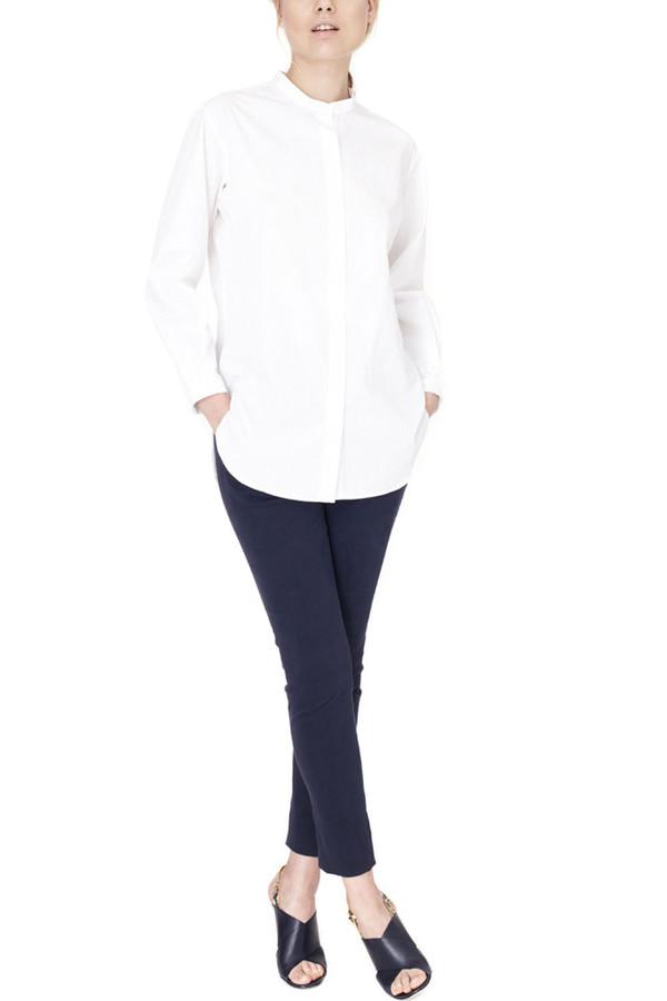 Apiece Apart Augustina White Collarless Shirt