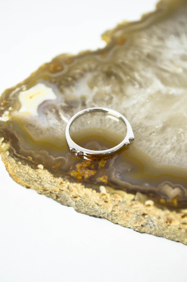 Maria Black Silver Serra Diamond Ring