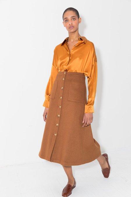 Datura Terra Wool A-Skirt - Terra