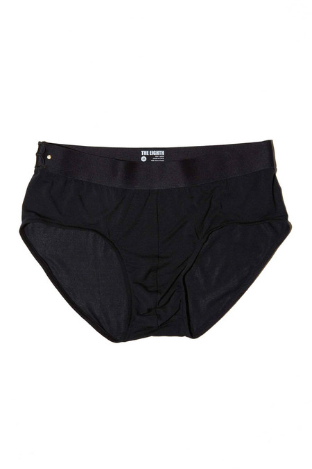 Men's The Eighth The Brief in Monochromatic Black