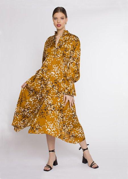House Of Dagmar Kin Dress - Caramel Print