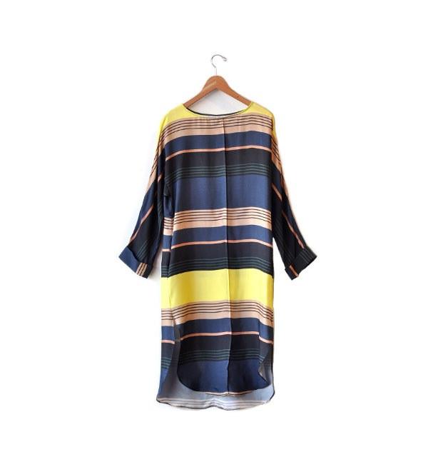 Apiece Apart Midnight Sky Luhan Boatneck Shirt Dress