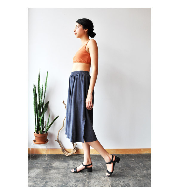 Black Crane Midnight Wide Slit Culotte