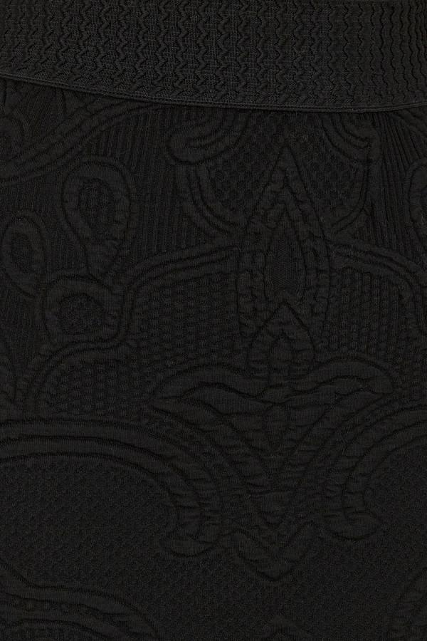 Rodebjer - Black Mandi Embossed Pencil Skirt
