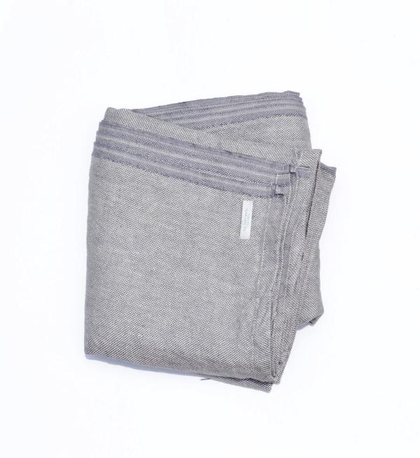 Fog Linen Grey Chambray Linen Blanket