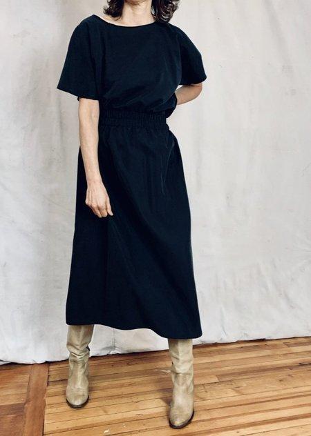 Anderst Louisa Paperbag Skirt - Coal