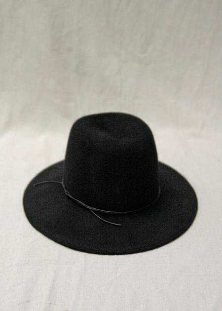 Brookes Boswell Jackson Velour Felt Hat - Black