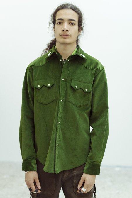 PHIPPS Summer Cord Rockhound Shirt - Emerald Green