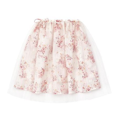 kids Bonton Child Annie Tutu Floral Print Skirt - Pink