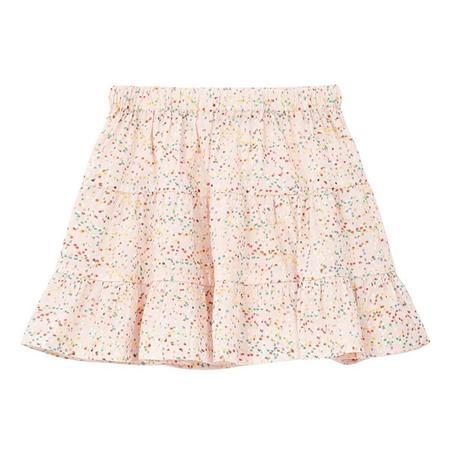 kids Bonton Child Aurore Confetti Print Skirt - Pink