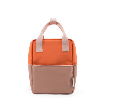 kids Sticky Lemon Color Block Backpack - orange