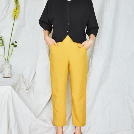 Eve Gravel Aztec Pant - Yellow
