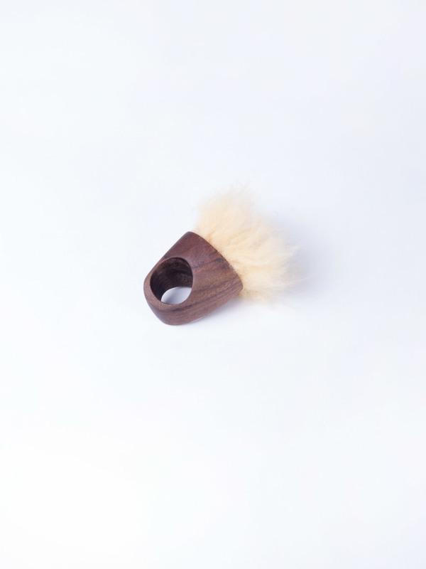 Paige Martin Woods Fur Ring