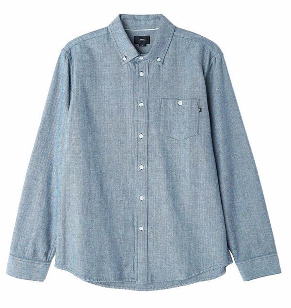 Men's Obey Wiseman Herringbone Speck Shirt