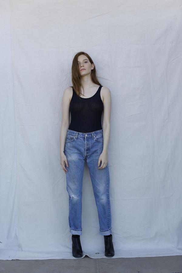 Calder Blake Bianca Variegated Brushed Rib Bodysuit