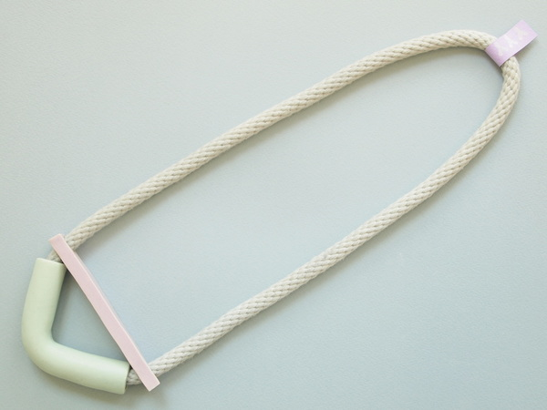 YYY 5/8'' bent half moon necklace