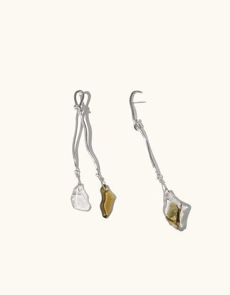 Cled Rope Drop Earrings
