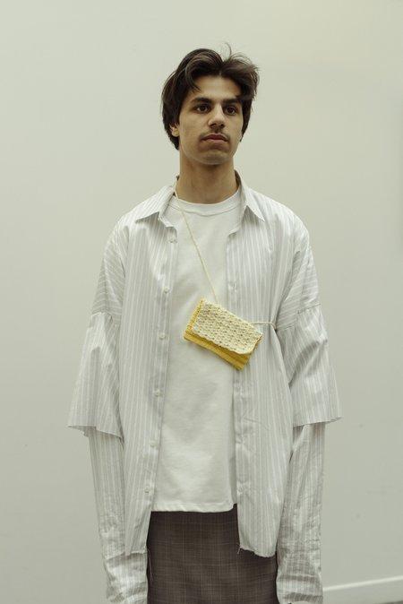 Camiel Fortgens Crochet Knitted Zipper Wallet - Yellow