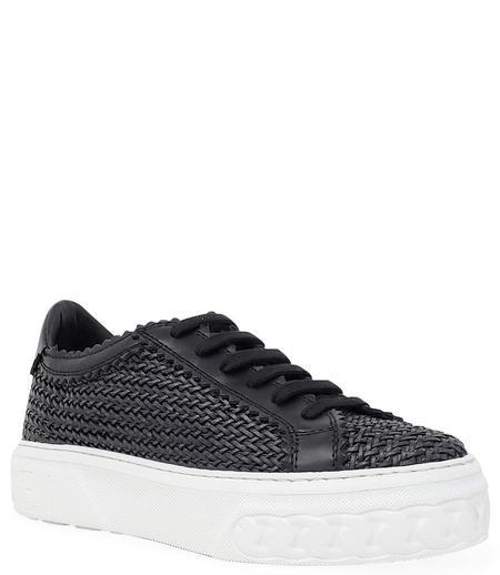 Casadei Nero Lace Up Sneaker