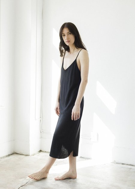 Ozma Bias Slip Dress - Black