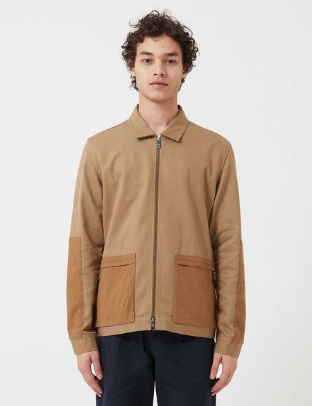 Folk Clothing Overlay Jacket - Tan