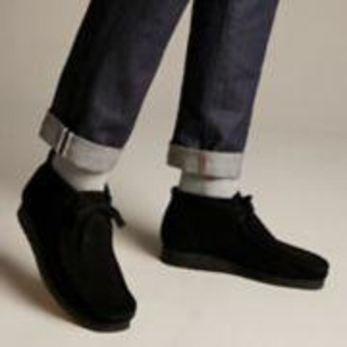 caldera gemelo objetivo  Clarks Wallabee Boot - Black Suede | Garmentory