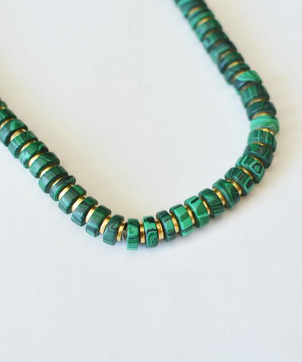 Growing Jewelry Malachite Heishi Necklace