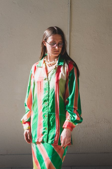 TIGRA TIGRA LOUNGE SHIRT - CLAMP DYED SILK