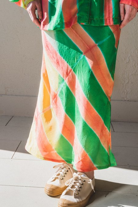 TIGRA TIGRA SLIP SKIRT - CLAMP DYED SILK