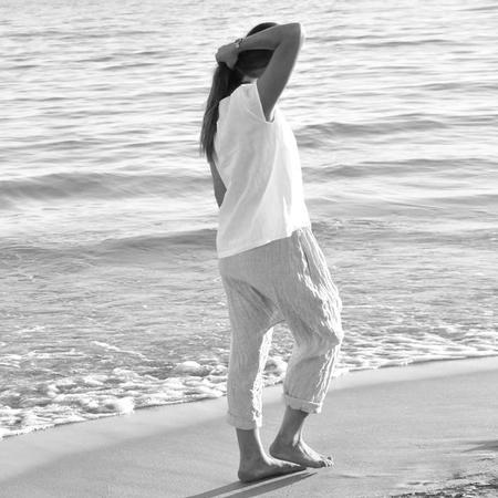 Le Vestiare de Jeanne Harem Pants - Grey Linen