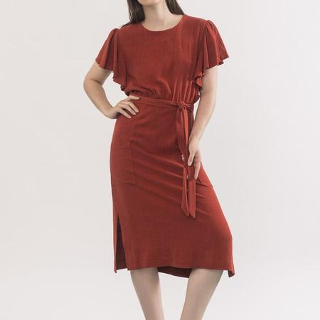 Jennifer Glasgow Klee Dress - Squash