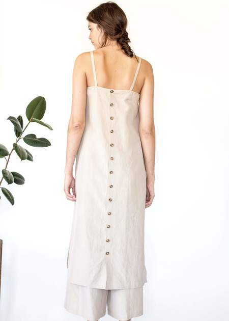 DEVORE POOLE Halite slip dress - sandstone
