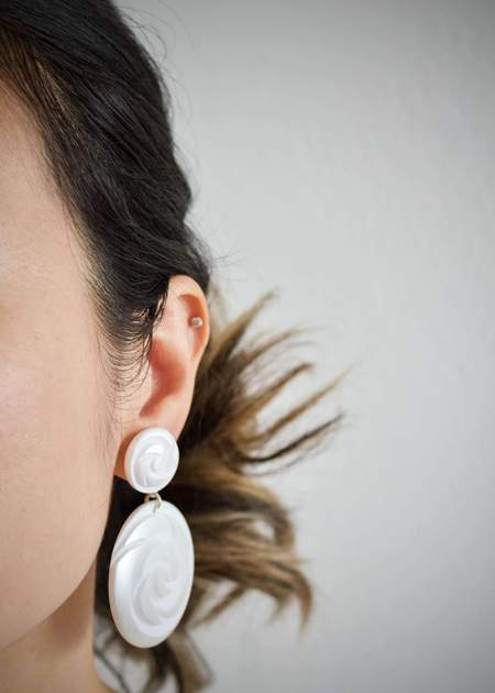 Alexandrine Paris Santorini earrings - Snow
