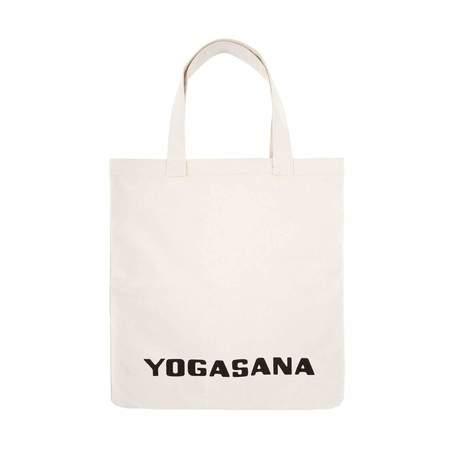 Sir/Madam YOGASANA picnic blanket large tote bag - Cream