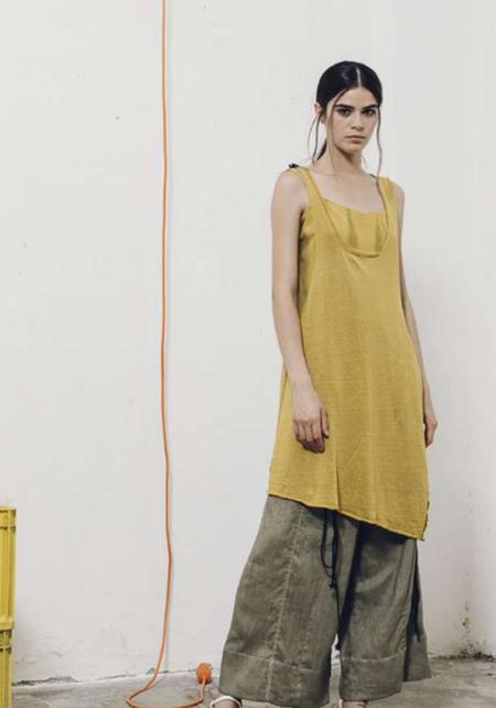 Serie Numerica Large Linen Blend Sleeveless Top