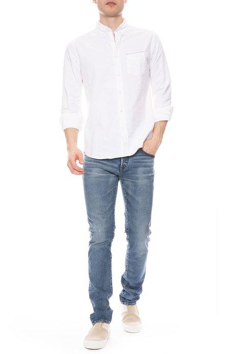 Officine Generale Japanese Selvedge Oxford Shirt - White