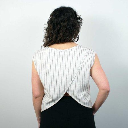 COKLUCH Mamba Top - Striped Linen
