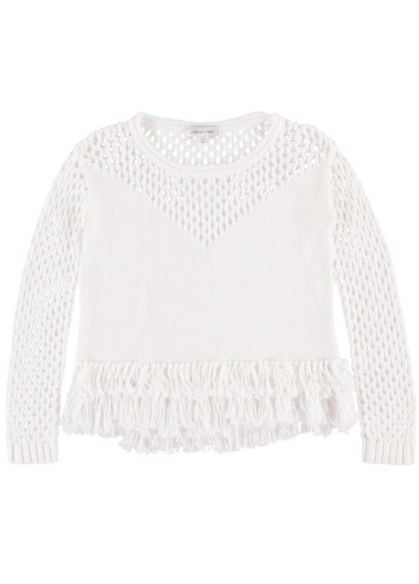Amour Vert Tessa Fringe Sweater