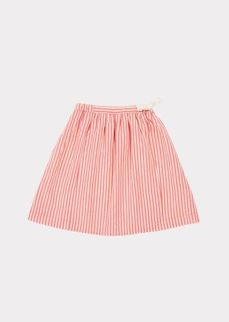 Kids Caramel Norton Skirt - Berry Stripe