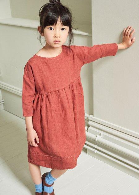 Kids Caramel Wimbledon Dress - Paprika