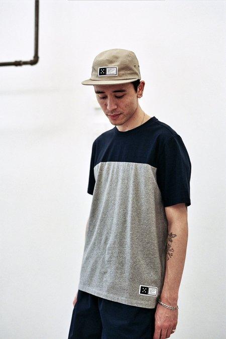 Pop Trading Company Fivestar T-Shirt - Navy/Heather Grey