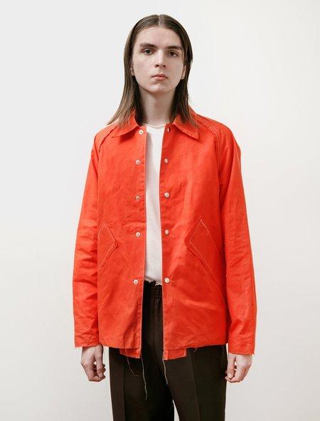 Camiel Fortgens Waxed Baseball Jacket - Orange