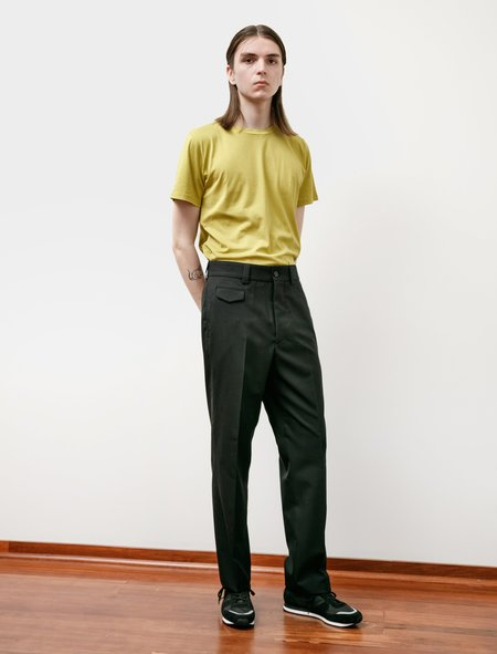 Margaret Howell Ticket Pocket Trouser Compact Wool - Black