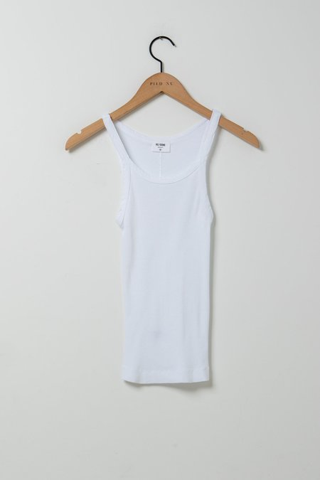 RE/DONE Ribbed Tank - White
