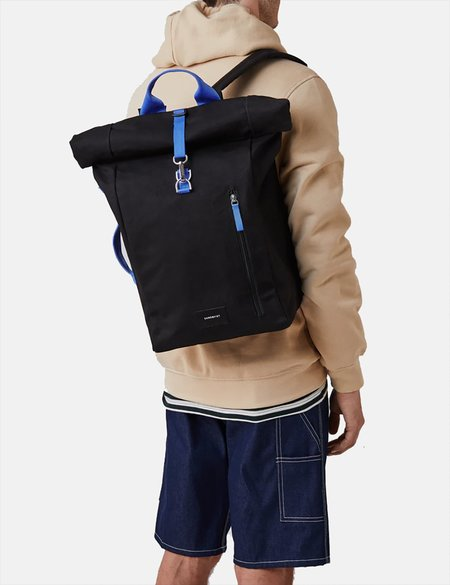 Sandqvist Dante Metal Hook Roll Top Backpack - Black