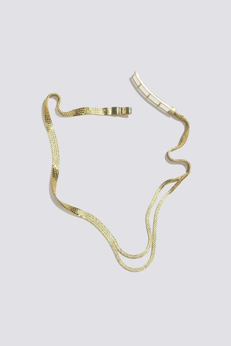 Knobbly Studio Parted Chain Choker - Vermeil