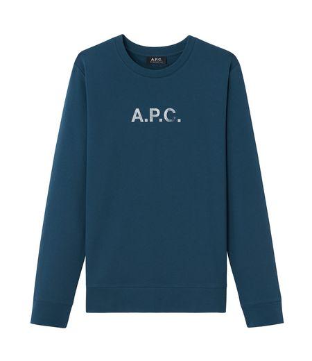 A.P.C. APC Stamp Logo Crewneck Sweater - Blue