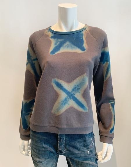 Suzusan cotton hand dyed crew neck sweatshirt